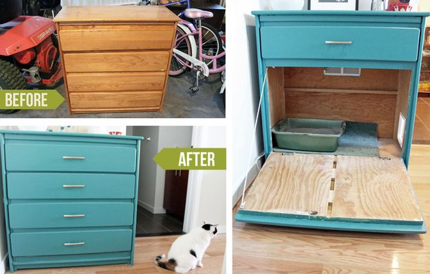 3 repainted shelf litter box hideaway cat litter cabinet diy