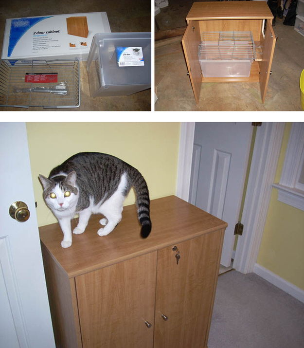 30 Ingenious DIY Solutions to Hide Your Pets Litter Box  Page 4