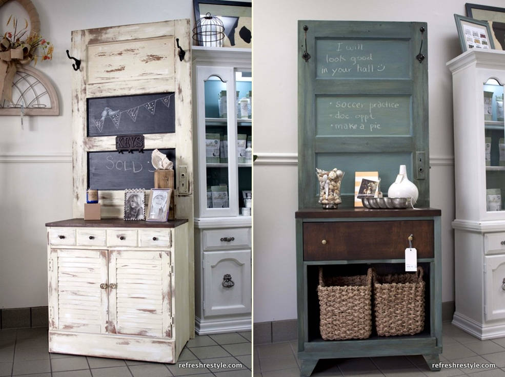 Creative Ideas For Old Doors : Creative and simple diy project ideas of how to reuse