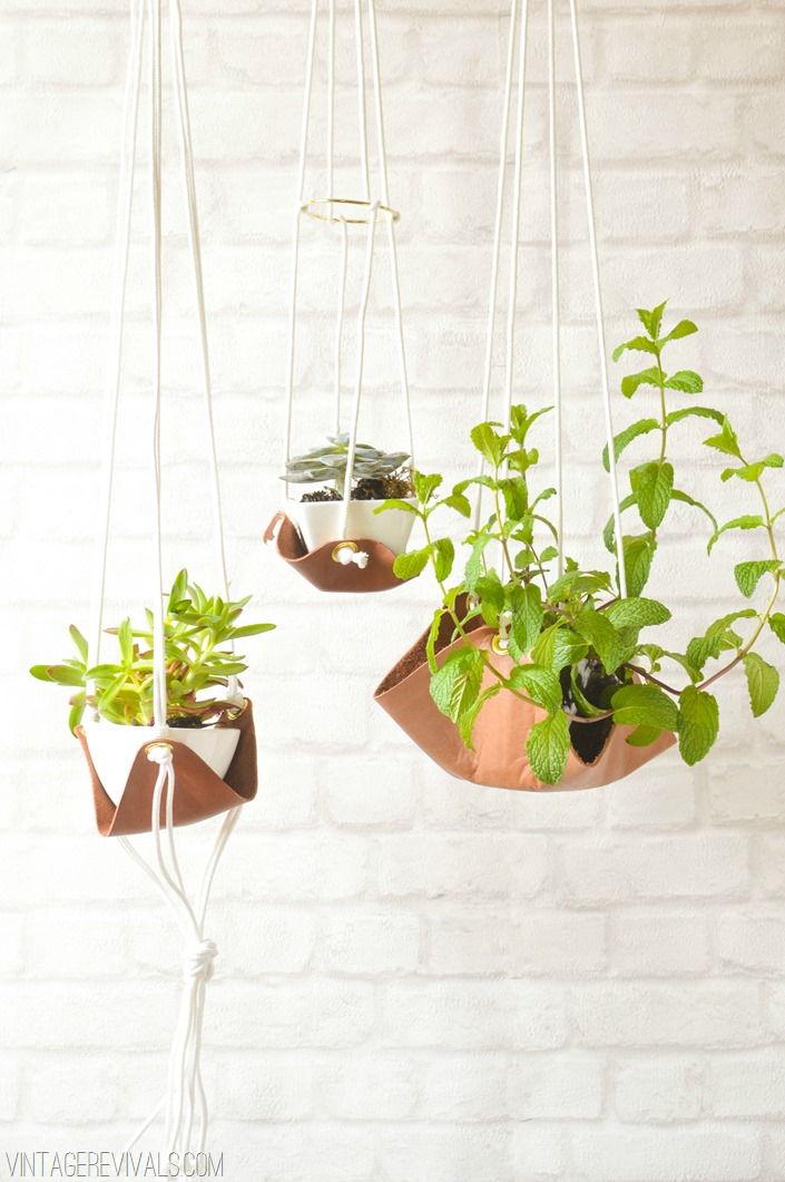 Leather Sling Planter