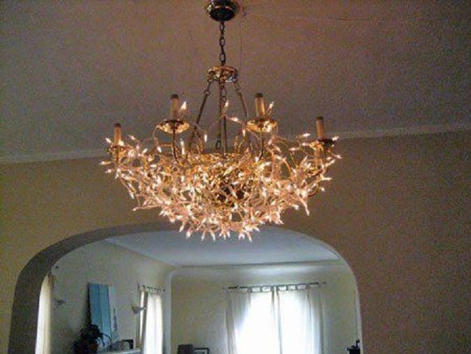 String Light Chandelier: 16 Chandelier Cover-up,Lighting