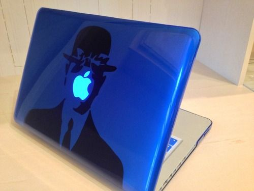 Son of Man Magritte Macbook Decal