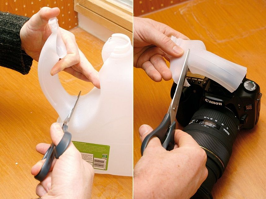 Soften Pop-up Flash with an Empty Milk Carton