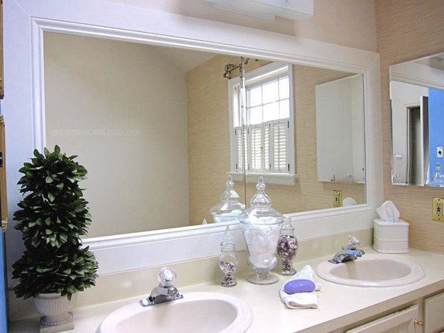 11 How To Frame A Bathroom Mirror. 35 Easy Furniture Makeover Ideas For Your Grown Up Apartment
