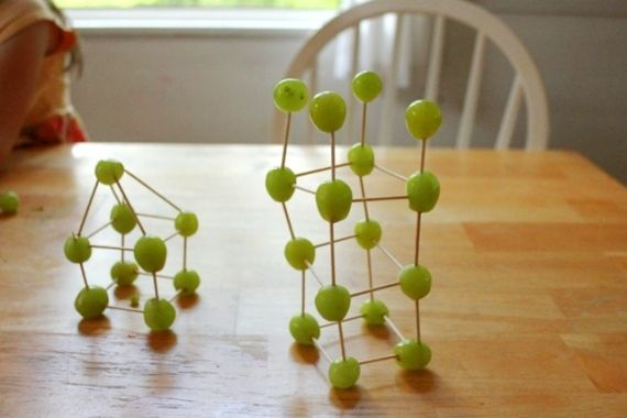 Grape and Toothpick Sculptures