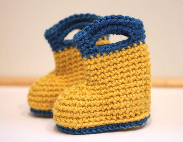 Crochet Rain Boots
