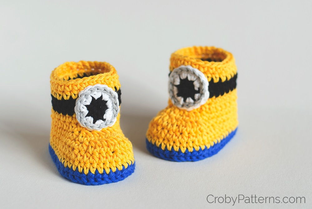 Free Crochet Patterns For Minion Slippers : 35 Cute Crochet Baby Booties Ideas You Can Easily Make ...