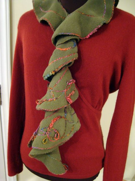 Warm DIY No Knit Cowl With A Big Button