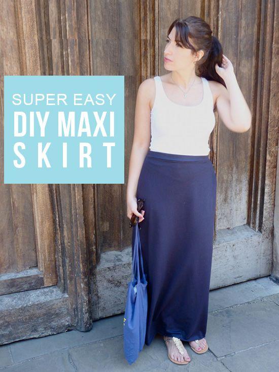 5 Minute Maxi Skirt