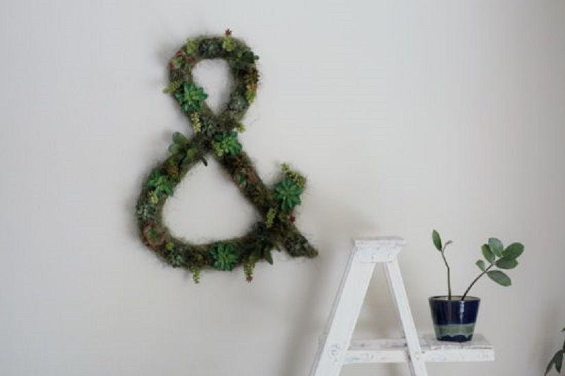 Succulent Ampersand Wall Art