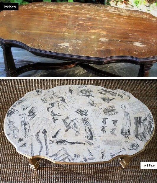 Decoupaged Coffee Table