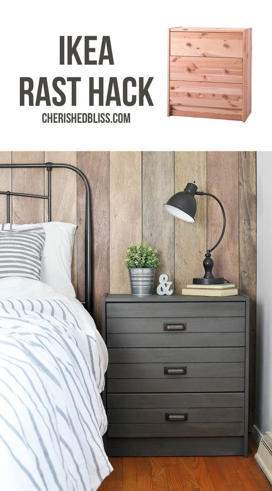 Rustic Industrial Night Stand