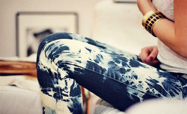 Bleach Tie Dye Jeans