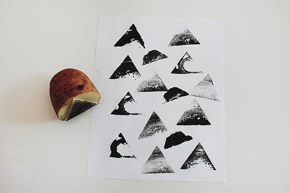 Carved Potato Stamp
