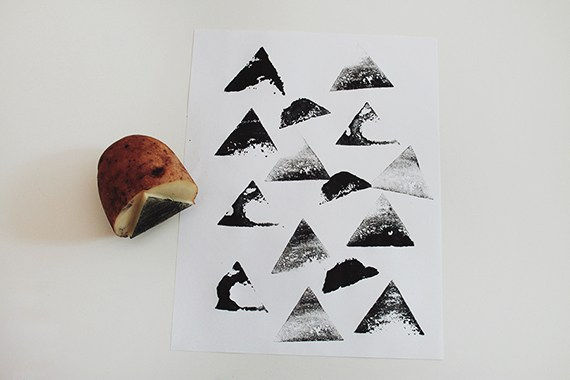 Carved Potato Stamp