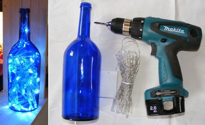 cool garage ideas pinterest - 40 Creative DIY Wine Bottle Craft Ideas – Page 6