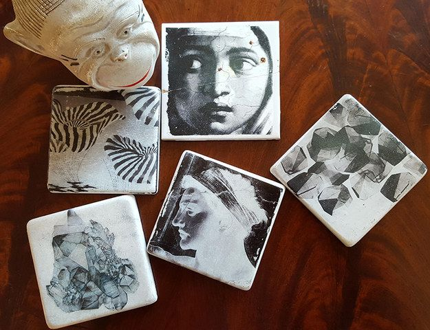 Marble Photo Coasters