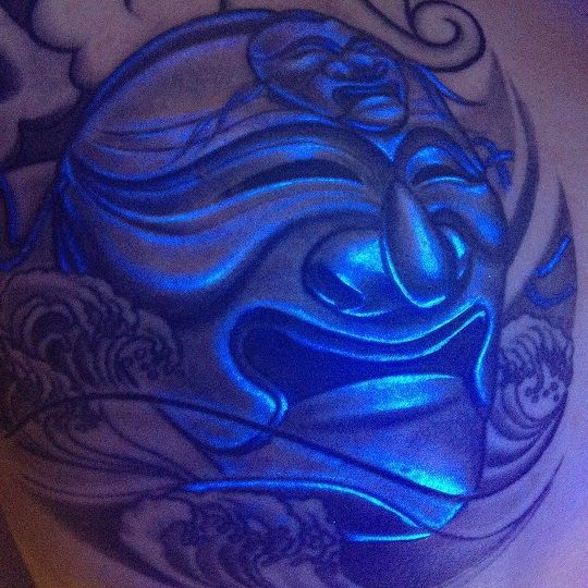 35 cool uv tattoos that you never knew it exists page 3 for Uv tattoo health risks