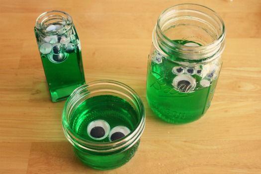 Googley Eyed Green Blobs