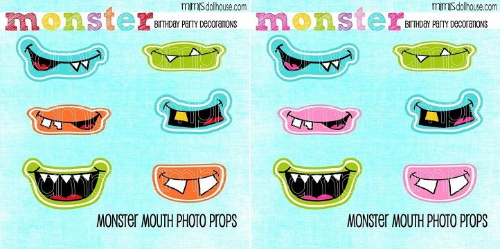 Monster Mouth Photo Props