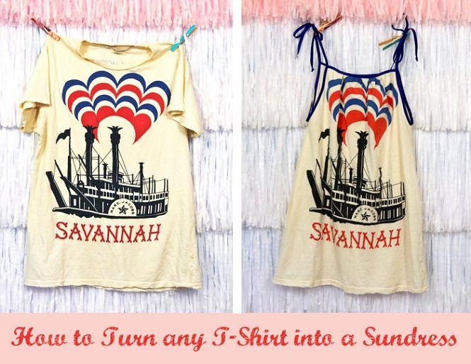Turn any T-Shirt into a Sundress