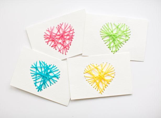 Heart Yarn Cards