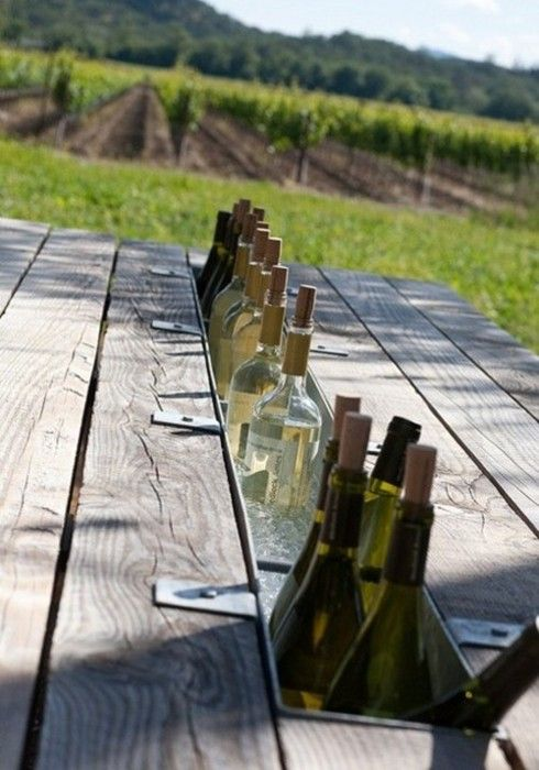 Picnic Table with Built-in Drink Cooler