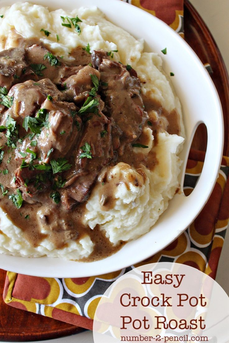 Easy Crock Pot Pot Roast with Gravy