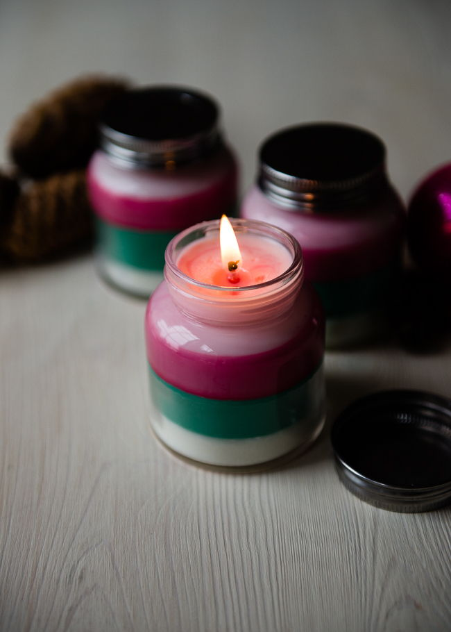 Layered Scent Candles