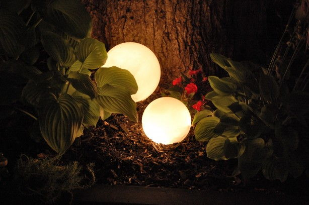 Glowing Outdoor Orbs