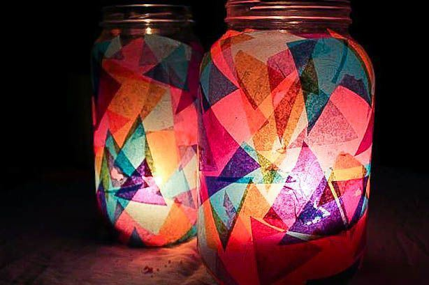 Colorful Garden DIY Lanterns