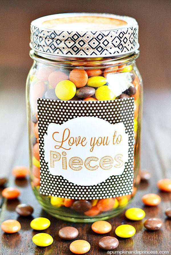 Love You To Pieces Sweet Jar