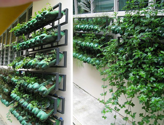 Vertical Gardening Ideas 26 creative ways to plant a vertical garden how to make a vertical garden 1 Plastic Bottle Vertical Garden