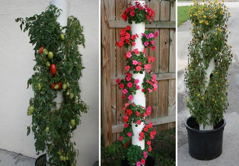 PVC Pipe Vertical Planter