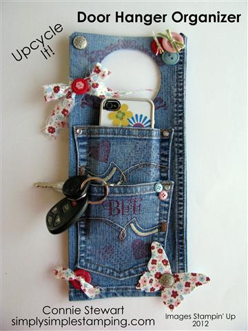 Denim Door Hanger Organizer