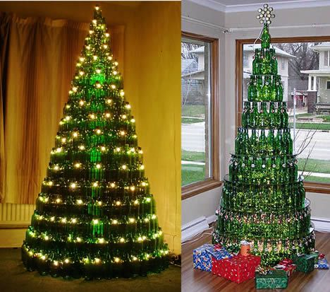 Wine Bottle Christmas Trees
