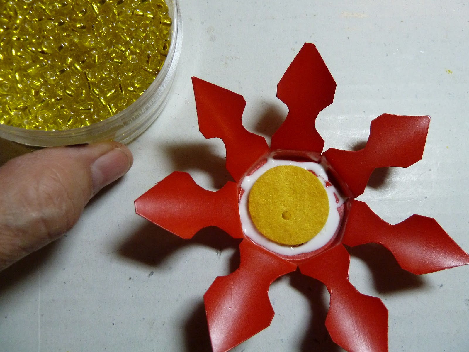 K-cup Poinsettia Ornament