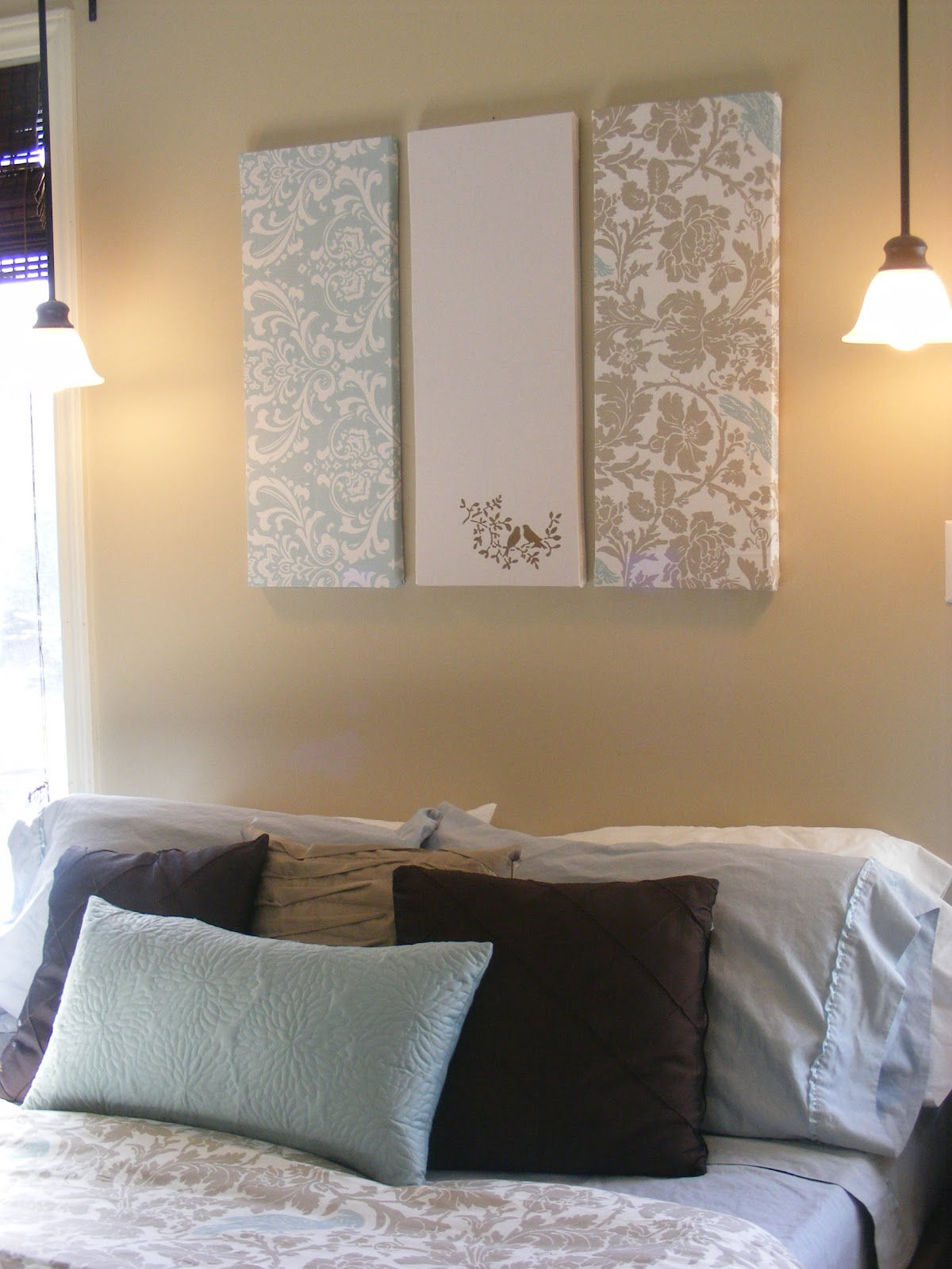 Fabric on Canvas Wall Art