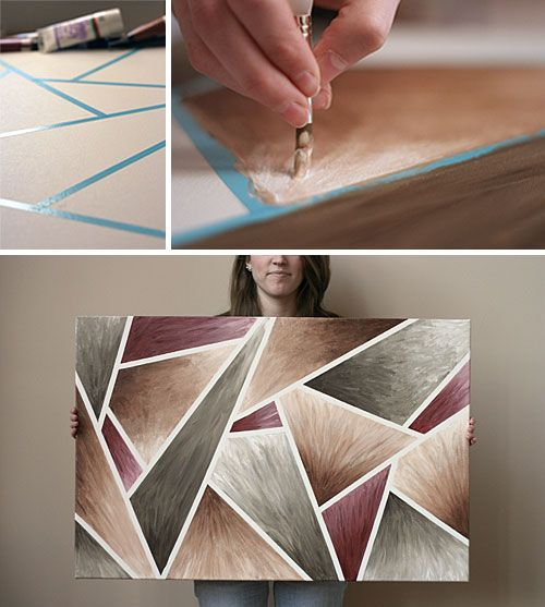 Masking Tape Abstract Canvas