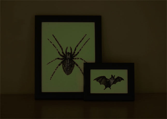 Glow in the Dark Halloween Art