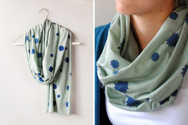 No-Sew Stamped Scarf
