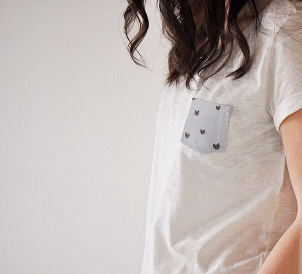No Sew Pocket T-Shirt