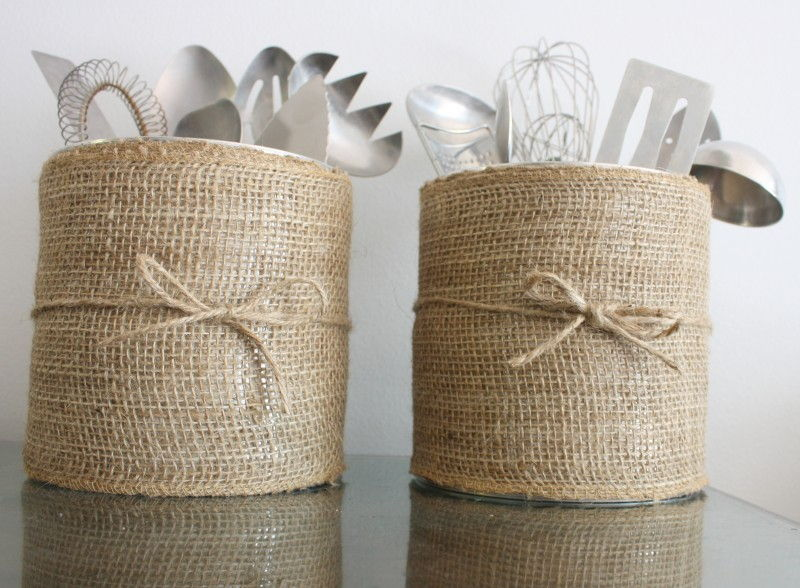 Burlap Coffee Canister