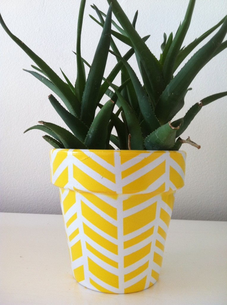 Herringbone Vase And Planter