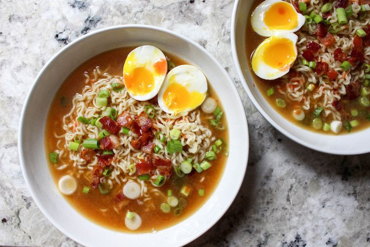 Ramen with Bacon & Soft-Boiled Eggs