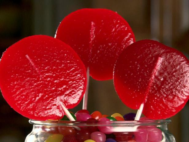 Jell-O Cherry Lollipops