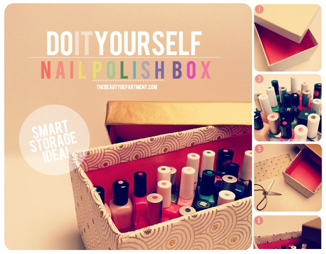 5 DIY Nail Polish Storage Idea & 40 Simple DIY Makeup Organization and Storage Ideas u2013 ListInspired.com
