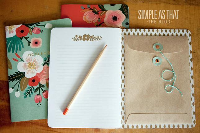 Notebook Organizer with Envelopes