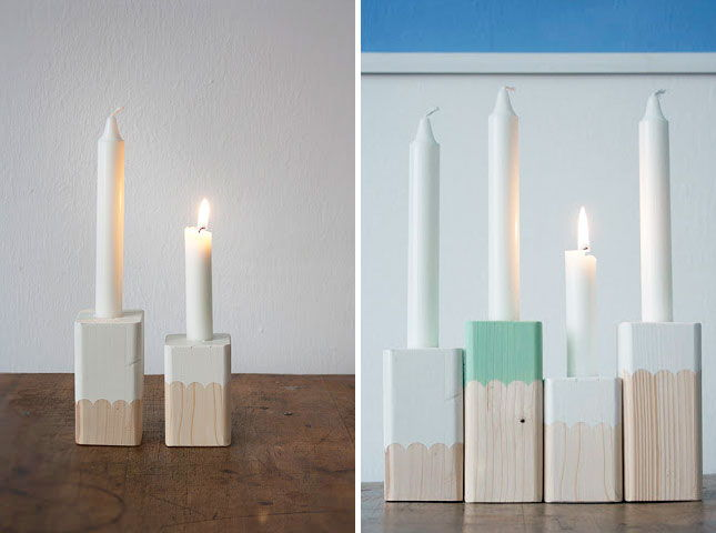 Paint-Dipped Candle Holders