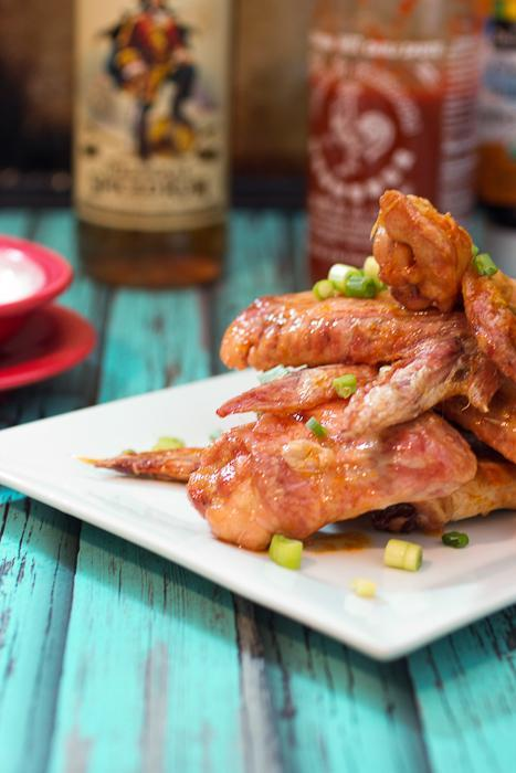 Honey Rum Sriracha Wings
